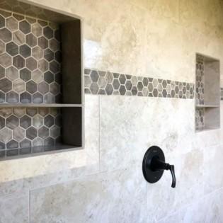 Shower bathroom remodel in Royce City, Northeast Texas