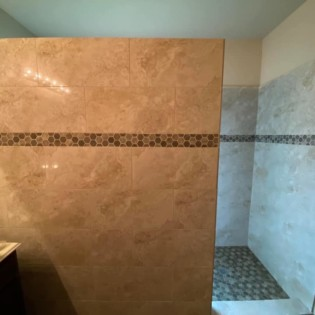 Shower bathroom remodel in Royce City, Northeast Texas