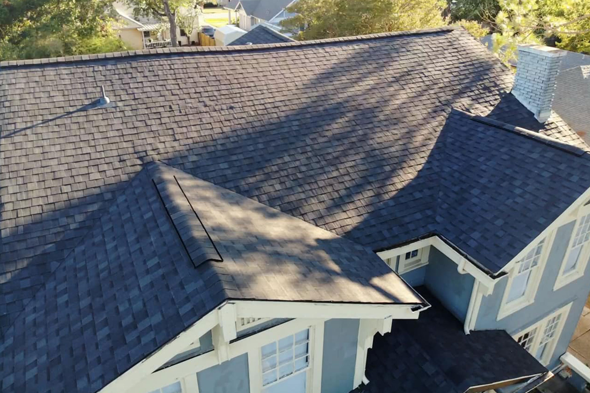 Installing a new roof on a historic home in Greenville, Texas