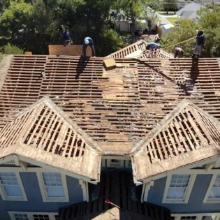 Installing a new roof on a historic home in Greenville Texas